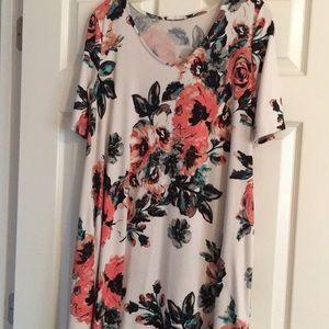 Below the knee floral print dress